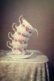 Tasses de thé de vintage Image stock