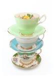 Tasses de thé de vintage Photo libre de droits