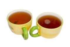 tasses de thé deux de thé Photo stock