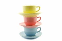 Tasses de thé empilées Photos stock
