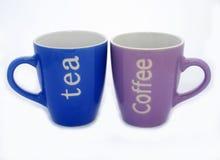 Tasses de thé et de café Images libres de droits
