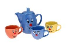 Tasses de thé et tasses de café Image libre de droits