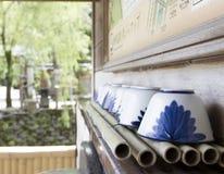 Tasses de thé japonaises Photos libres de droits