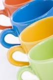 Tasses en céramique colorées Image stock