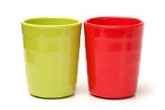 Tasses en plastique Photos stock