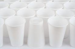 Tasses en plastique Images stock