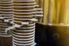 Tasses en plastique de thé et de coffe Photographie stock