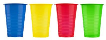 Tasses en plastique jetables Image libre de droits