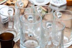 Tasses en verre Photos stock