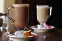 Tasses en verre de café image libre de droits