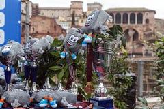 Tasses et symbole du marathon de Rome Images libres de droits