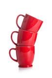 Tasses rouges Photo stock