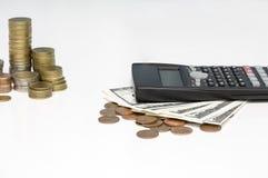 Tassi di cambio concetto, baht tailandese del THB di valuta dei soldi immagini stock