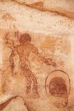 tassili för rock för ajjeralgeria n målningar arkivbild