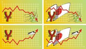 Tasso del cambio sull'estero - Yen Illustrazione Vettoriale