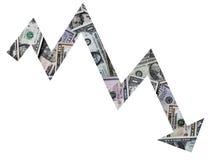 Tasso del dollaro Immagine Stock Libera da Diritti