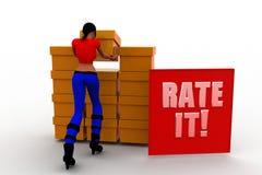 tasso delle donne 3d illustrazione Fotografie Stock