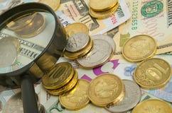 Tasso di cambio della rublo Fotografie Stock