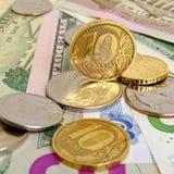 Tasso di cambio della rublo Fotografia Stock Libera da Diritti