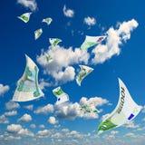 Tasso di cambio della rublo contro l'euro. Fotografie Stock