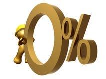 Tasso di interesse zero delle percentuali Immagine Stock