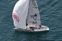 Tasso Etilico boat at the Trofeo Gorla 2012 Royalty Free Stock Photos