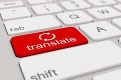 Tastatur - übersetzen Sie - Rot Stockfoto