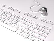Tastatur 3D auf weißem Hintergrund stock abbildung