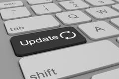 Tastatur - Aktualisierung - Schwarzes Lizenzfreie Stockfotos