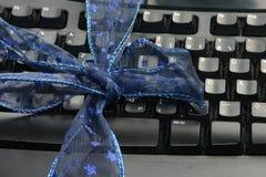 Tastatur als Geschenk Stockbild