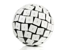 Tastatur-Ball-Konzept lizenzfreie stockfotografie