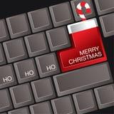 Tastatur der frohen Weihnachten Stockfotos