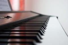 Tastatur des Klaviers Stockbild