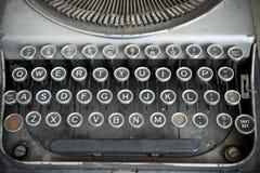 Tastatur einer Weinleseschreibmaschine Stockbild