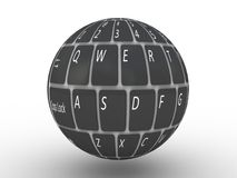 Tastatur eines Notebooks Stockfotografie