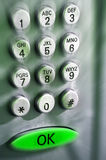 Tastatur für ein Telefon Stockfoto