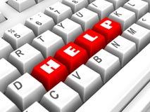Tastatur. Hilfe Lizenzfreie Stockfotos