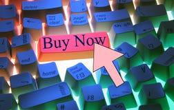 Tastatur-Kauf jetzt lizenzfreies stockfoto