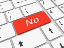 Tastatur kein Schlüssel Stockbilder