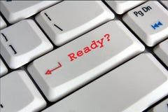 Tastatur mit betriebsbereiter Taste Lizenzfreie Stockfotografie