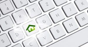 Tastatur mit einer eco Wahl Lizenzfreies Stockfoto