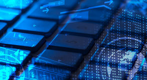 Tastatur mit glühenden Ikonen Lizenzfreies Stockbild