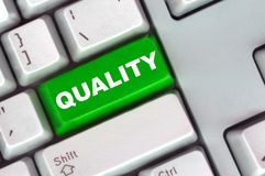 Tastatur mit grüner Taste der Qualität Stockbild
