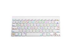 Tastatur mit handgeschriebenen Kinderschlüsseln stockbilder