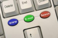 Tastatur mit Internet-Tasten Stockfotografie