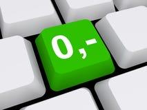Tastatur mit nullpreisangabe Stockfoto