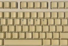 Tastatur mit Pornografieschlüsseln Lizenzfreie Stockfotos