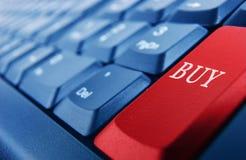Tastatur mit rotem buybutton Lizenzfreie Stockfotografie