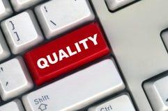 Tastatur mit roter Taste der Qualität Stockbilder