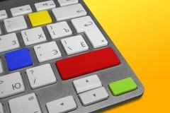 Tastatur mit Schlüsseln von verschiedenen Farben Stockfoto